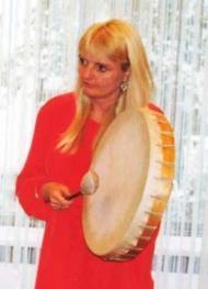 Tara with drum