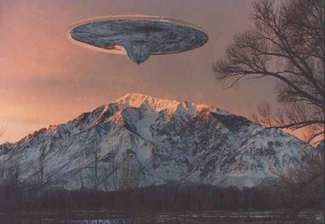ufo mothership snow mountain