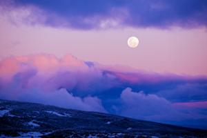 Full Moon at Falls Creek august 2014