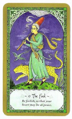 rumi-tarot-the-fool_be foolish so that your heart may be at peace
